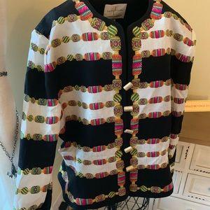 Vintage Safe Silk by Adrianna Papell Blazer Jacket